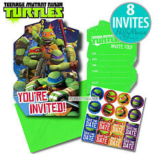 TEENAGE MUTANT NINJA TURTLES TMNT PARTY SUPPLIES INVITES INVITATIONS PACK OF 8