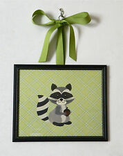 Kids Room Nursery Woodland Animal Hanging Picture Fox, Raccoon, Skunk, Squirrel