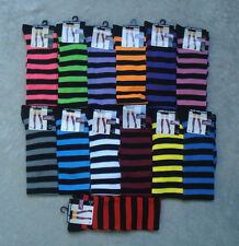 Ladies Over the Knee Striped Socks 13 Colors to Choose Halloween