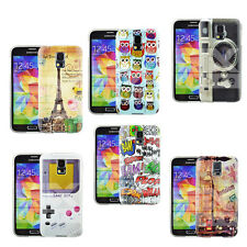 Silicone Gel Rubber Grip Case Cover For Samsung Galaxy S5 MINI Free Film