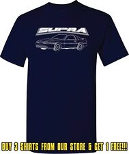 Toyota Supra Outline Drawing Car Turbo Drag Racer Drifter Screen Printed T Shirt