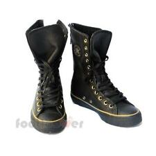 Shoes Converse All Star CT AS X-Hi Leather Zip Women's 546630C Black-Dark Gold B