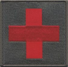 "Red Cross Medic First Aid IFAK OD Subduded Patch Large 4"" X 4"" Sew On or Velcro!"