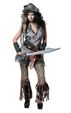 ADULT WOMENS GHOST SCARY PIRATE WENCH FANCY DRESS HALLOWEEN COSTUME