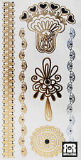 Beautiful Metallic Temporary Tattoo Bracelets (Various Designs) by Royal Rebel