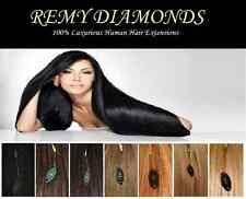"16"" 0.4g 200's ★LONG/STRAIGHT MICRO LOOP REMY HUMAN Hair Extensions★UK SUPPLIERS"