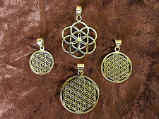 FLOWER OF LIFE pendant Seed of Life Sacred Geometry Pure Brass
