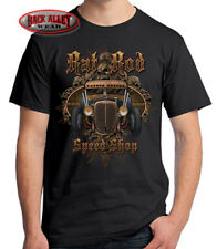 RAT ROD SPEED SHOP T-SHIRT Tee ~ SKULLS ~ Hot Rod Garage Rusty Wrenches
