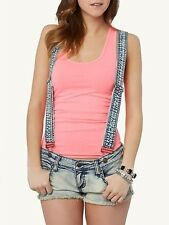 RUE 21 Denim Cutoff Shorts * REMOVABLE SUSPENDERS * Distressed Jean Shortall