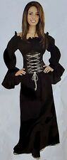 MEDIEVAL RENAISSANCE PIRATE WENCH GYPSY COSTUME DRESS Sea Witch Tavern Wench