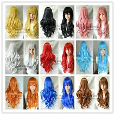 NEW Fashion & HOT 9 COLORS long curly Cosplay Party women girls full hair wigs