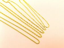 1 x Gold Filled base 925 STERLING SILVER Stamped Link CHAIN NECKLACE  Gift Ideal