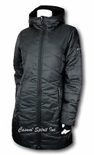 New womens Columbia Morning Lite Omni Heat repellent long jacket coat BLACK