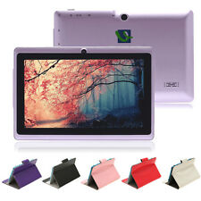 """iRulu Purple 7"""" Tablet PC 8GB Android 4.2 Dual Core Camera A23 1.5 GHz w/Case"""