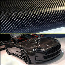 Variation 4D Gloss Black Car Carbon Fiber Vinyl Wrap Sticker Film Roll Air Free