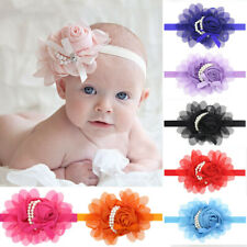 Beautiful Chiffon Pearl Headband Flower Hairband Photography Prop Baby Head Wear