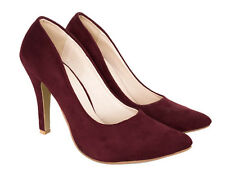 Elizabeth Burgundy Faux Suede Shoes
