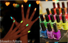 Glow in the Dark Translucent Neon Fluorescent Luminous BK Nail Polish Varnish C9