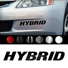 "Universal All Vehicle ""HYBRID"" Racing Sports Decal Sticker 2EA 10.2"" x 2.2"""