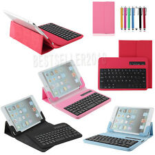 "Wireless Bluetooth Keyboard PU Leather Case Cover For 7"" inch Android Tablet PC"