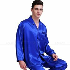 Mens Silk Satin Pajamas Pajama PJS  Sleepwear Set S M L XL 2XL 3XL Lounge Wear