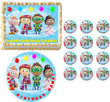 SUPER WHY Birthday Party Edible Cake Topper Frosting Sheet Image-ALL SIZES!