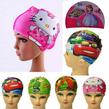 Cute Digital Printing Children's Swimming Cap Flexibility Cartoon Swimming Cap