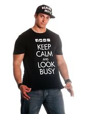 Keep Calm and Look Busy Graphic T-shirt  - *HOT SELLER*