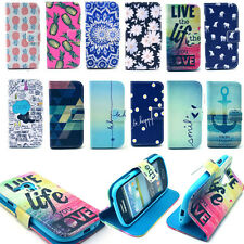 Flip Leather Case Cover Various Pattern Wallet Stand For Samsung S3 mini i8190