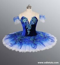 Classical Professional Ballet Tutu Competition Performance Blue Dance Costume