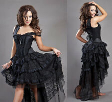 New Vintage Victorian Gothic Steampunk Evening Corset Burleska Dress N65