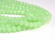 Crystal quartz, faceted rondelle, sea green color bead, jewelry bead