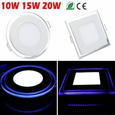 10W 15W 20W Bombilla Acrylic LED Recessed Ceiling Panel Light Downlight + Driver