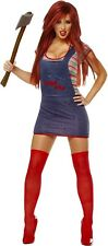 SEXY CHUCKY Adult Womens Costume Licensed Halloween Movie Killer SCARY Cute