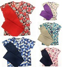 New Nursing Scrub Set NWT Sizes XS S M L XL 2XL 3XL Medical NWT Multiple Prints