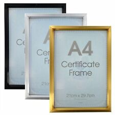 A4 Certificate Photo Picture Frames Poster Gold Silver Black NEW