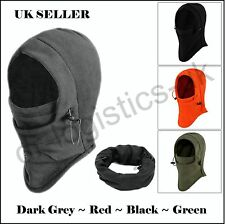 Fleece Thick Neck Warmer Hat Scarf Scarves Balaclava Snood Winter Cold UK