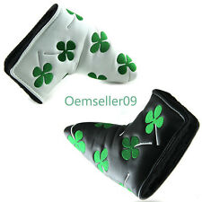 Golf Putter Head Cover Clover Headcover For Taylormade Ping Callaway Black&White