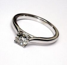 1/2 Ct G H I VS Natural real round diamond 10 14k gold engagement solitaire ring