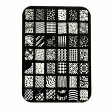Large Nail art Image Stamp Template Plates Polish Stamping Manicure Image DIY XY