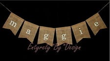 Custom NAME Burlap Banner Bunting ~ Baby Shower Photo Prop Birthday Wall Decor