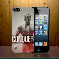 Arnold Schwarzenegger Hollywood GYM Conquer Quote Hard Phone Case Cover Z245