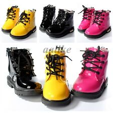 Kid Baby Boy Girls Round-toe Martin Boots Children Candy Color Water-proof Shoes