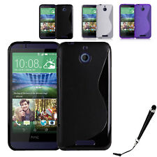 S Curve Gel Cover Case for Telstra HTC Desire 510 + SP & Stylus