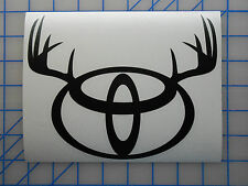 "Toyota Antlers Emblem Sticker Decal 5.5"" 7.5"" Off Road Tundra Tacoma FJ TRD Buck"