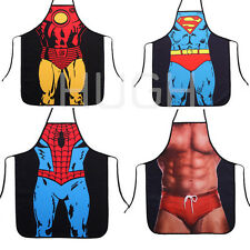 Novelty Funny Sexy Naked Cartoon Woman Men Kitchen Cooking BBQ Party Apron Gift