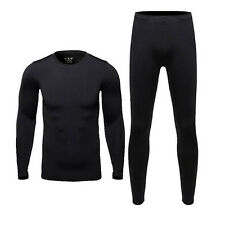 Men's Ski Ultra-Soft Fleece Thermal Top Bottom Long Johns Underwear Set Outdoor