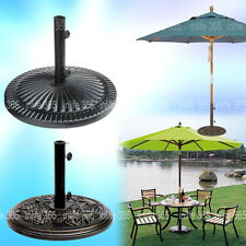 Sunflower Rose CAST IRON PARASOL STAND Colophony Umbrella Base Garden Patio 8/12