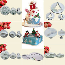 Fondant Cake Decorating Tools Cupcake Cutters Plungers Christmas Snowflake Mould