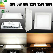LED Panel 3/6/9/12/15/18w Proyectores Empotrables Ultra Slim Con Transformador